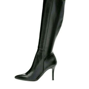 "Nine  West  Zip-up Knee High  4.5"" Heels"